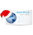 santa hat on a globe vector image