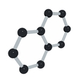 Science background with molecule on white vector image vector image