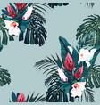 seamless tropical pattern vivid tropical vector image vector image