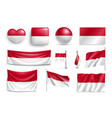 set indonesia flags banners banners symbols vector image
