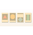 set minimal 20s vintage geometric design bauhaus vector image