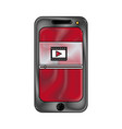 smartphone video play button app mobile vector image vector image