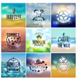 Summer designs on tropical beach backgrounds vector image