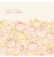 thanksgiving line art pumkins horizontal frame vector image vector image