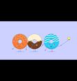 Three kawaii donuts taking selfie vector image vector image