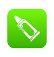 toothpaste tube icon green vector image vector image
