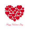 valentines day greeting card or invitation vector image vector image