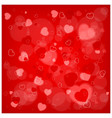 valentines day red pattern vector image vector image