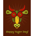 vegan day vector image vector image