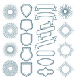 vintage sunburst frames ribbon banners and labels vector image vector image
