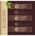 Web site design Ecology background vector image vector image