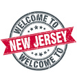 welcome to New Jersey red round vintage stamp vector image vector image