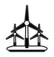 wind turbines eco friendly icon image vector image vector image