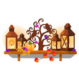 wooden wall shelf in shape a tree vector image vector image