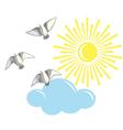 Birds and sun vector image