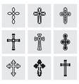 Crosses icon set vector image