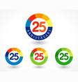25 anniversary chart logo vector image vector image