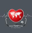 29 september world heart day concept design vector image