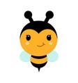 adorable cartoon bee character in modern flat vector image vector image