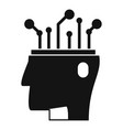 ai automatic brain icon simple style vector image vector image