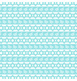 aqua blue jewish star stripe vector image