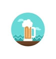 Beer Mug icon Summer Vacation vector image