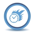 Blue Hot clock icon vector image vector image