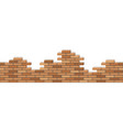 broken brick wall 3d isometric view seamless vector image