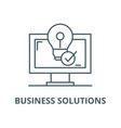 business solutions line icon linear vector image vector image