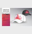 cap mock up heart design art vector image