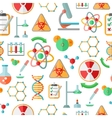 Chemistry research seamless pattern vector image
