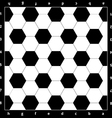 Chess Board with soccer ball texture vector image vector image
