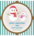 Christmas greeting card47 vector image vector image