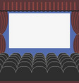 cinema auditorium in flat style vector image vector image