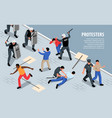 civil unrest police composition vector image