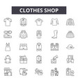clothes shop line icons signs set vector image vector image