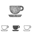 Coffee icon set - sketch line art vector image vector image