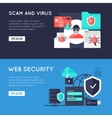 Computer Security Horizontal Banners vector image