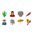 country mexico icons in set collection for design vector image