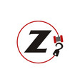 crane hook towing letter z vector image vector image