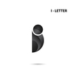Creative I-letter icon abstract logo vector image vector image