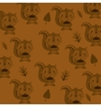 cute squirrel head pattern background image vector image vector image