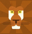 drawing lion face vector image vector image