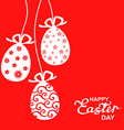 easter lace red vector image vector image