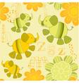 elephant garden pattern vector image vector image