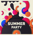 fashionable modern poster with vinyl summer party vector image
