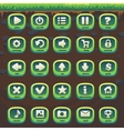 feed fox gui match 3 set green buttons vector image vector image