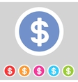 Flat game graphics icon money vector image vector image