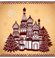 Folkloric style temple vector image