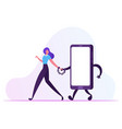 gadget and networking addiction concept young vector image vector image